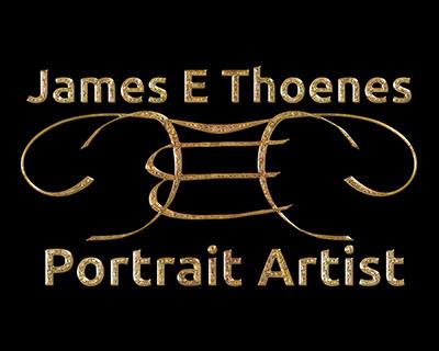 Logo for James E Thoenes Portrait Artist